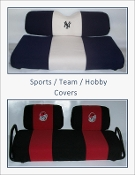 TEAM COLORS - Golf Cart Seat & Backrest Covers   FREE SHIPPING